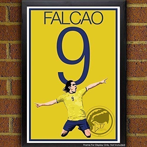 Radamel Falcao Poster - Colombia Soccer Art