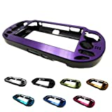 PlayStation PS VITA 1000 Case Cover Aluminum Brushed Metal Plated Plastic + Free Screen Protector (1st Generation, PCH-100x Version) PURPLE