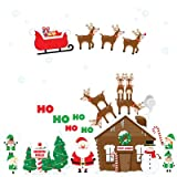 Christmas Santa's Village Wall Decals Peel and Stick Removable Reusable Decoration