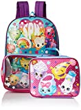 Shopkins Girls Backpack with Lunch Window Pocket, blue