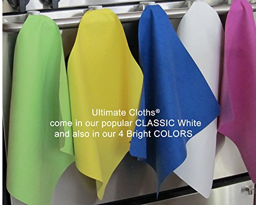 Ultimate Cloth The, Mirafiber - Advanced Microfiber Cleaning Cloth Reusable, EcoFriendly Chemical Free, Superior Multi-Surface Cleaning Cloth 12 Pack Medium Size White by Ultimate Cloth (Image #7)