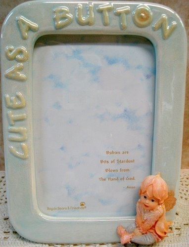 Faerietots Photo Frame - Bashful...Cute as a Button by Boyds: Amazon ...