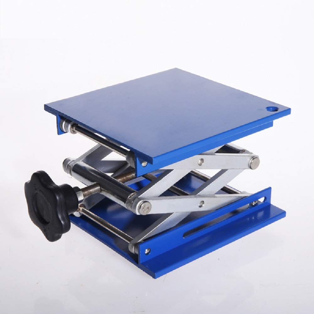Lab Jack Stand Table Lift Laboratory Lift Aluminium Oxide Lab Stand Lifter Scientific Scissor Lifting Jack Platform (6''X6'')