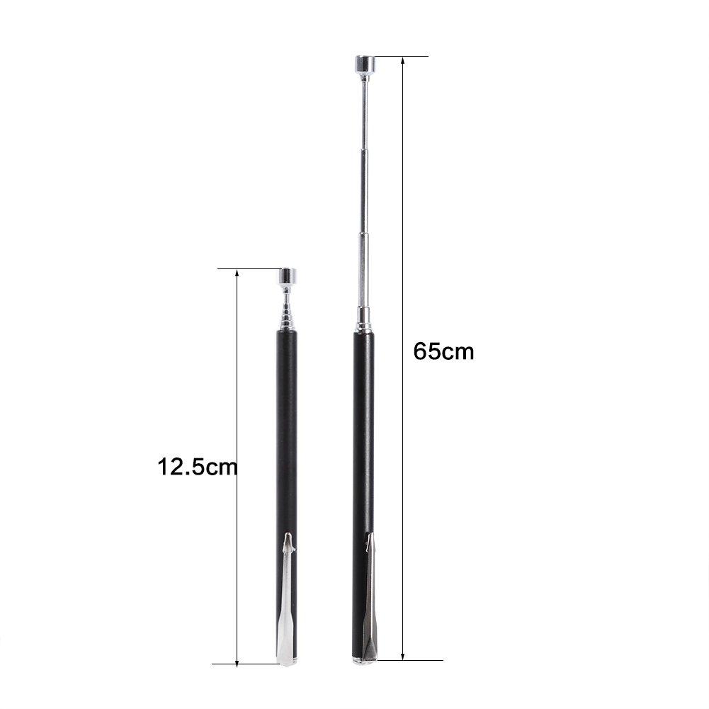 26 inch teleskopische magnetische Pick Up Tool Rod Stick Erweiterung Magnet Handheld Tool Schwarz