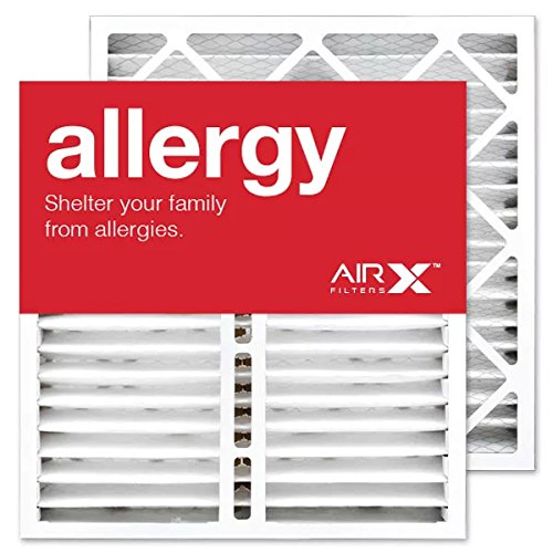AIRx Filters Allergy 20x20x5 Air Filter MERV 11 Replacement for Lennox X0585 to Fit Media Air Cleaner Cabinet Healthy Climate HCC14-23 BMAC-14CE, 2-Pack (Lennox Gas Furnace)