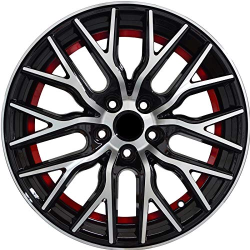 - FLARE - 18 inch Gloss Black with Red Undercut Rims fits BMW 228i XDrive Coupe AWD 18x8 5x120 ET40 CB74.1