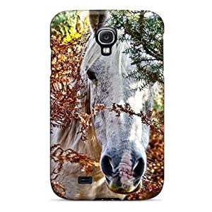 For Jeffrehing Galaxy Protective Case, High Quality For Galaxy S4 Horse In The Forrest Skin Case Cover