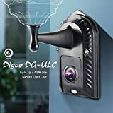 Digoo DG-ULC Gardening Flood Light Camera WIFI H.265 HD 1080P 2.4mm 120Wide Angle Lens PIR Sensor Onvif IPX5 Waterproof Front Door Lighting Camera Light Holder