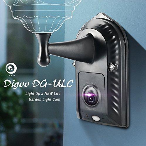 Digoo DG-ULC Gardening Flood Light Camera WIFI H.265 HD 1080P 2.4mm 120Wide Angle Lens PIR Sensor Onvif IPX5 Waterproof Front Door Lighting Camera Light Holder by Gods Kingdom