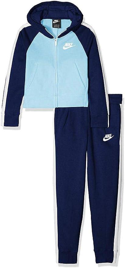 Nike G NSW TRK PE Chándal, Azul/Blanco (Void/Chill), M para Niñas ...