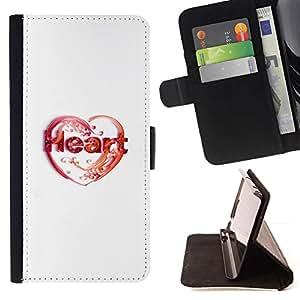 Momo Phone Case / Flip Funda de Cuero Case Cover - Amor de corazón - Samsung Galaxy S4 IV I9500