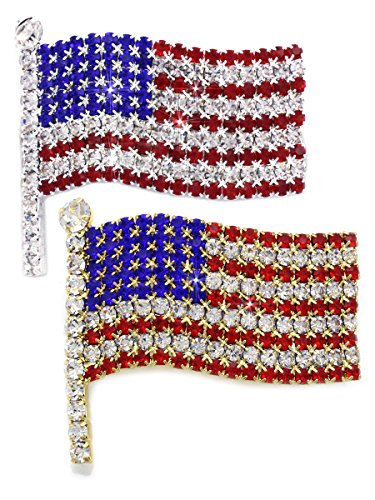 cocojewelry 4th of July American Flag Brooch Pin Independence Day Gift (Brooch Set)
