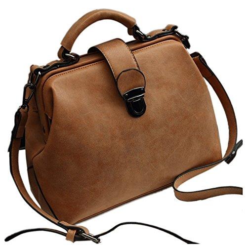 Women Women R PU Leather Crossbody Bags Brown Handbags For TOOGOO Shoulder Bags Doctor Nubuck Vintage Bags PqUSd