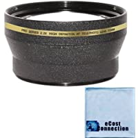 72mm Pro Series 2.0x High Definition AF (Auto-Focus) Telephoto Lens & eCostConnection Microfiber Cloth