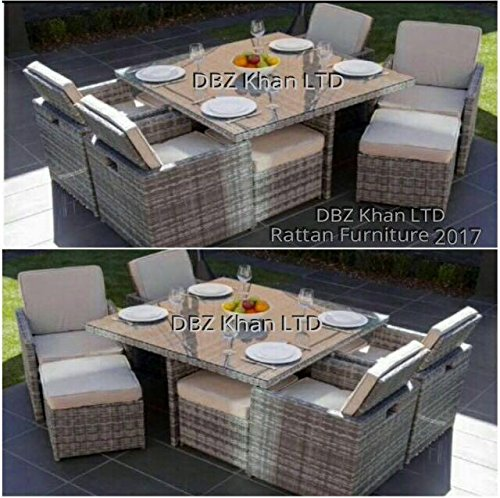 cube rattan garden furniture patio outdoor 8 seater dining set - Garden Furniture 2017 Uk