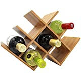 Autree Nature Bamboo Wine Rack 8-bottles Countertop