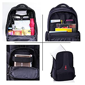 Platero Laptop Backpack Fits 15.6 Inch Computer Notebook Travel Rucksack Daypack For Men Women School Business And Gaming