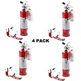 (4 Pack) 2.5 lb Fire Extinguisher ABC Dry Chemical Rechargeable w/Bracket New UL Tagged
