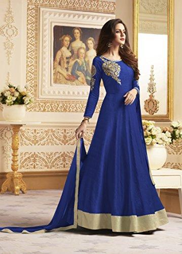 Indian Da Women Partywear Royal Facioun Blue Ethnic 2 Salwar Traditonal Anarkali Kameez Designer 5FBw4qF