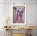 WALL ART ARTWORK PAINTING HUFF DOG