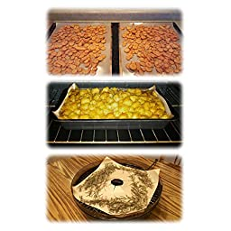 "(Set of 4) Premium Non-Stick Tan Baking Mats and Cookie Sheets, Trim to Fit, Easy Cleaning, Ultra-Thin for Consistent Heat Distribution That Makes Food Taste Better (15.75"" x 13"")"
