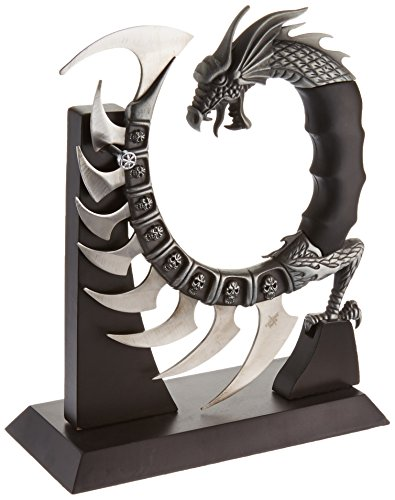 [Fantasy Master FM-571 Fantasy Dragon Show Blade with Stand, 8-Inch Overall] (Good Guy Duo Costumes)