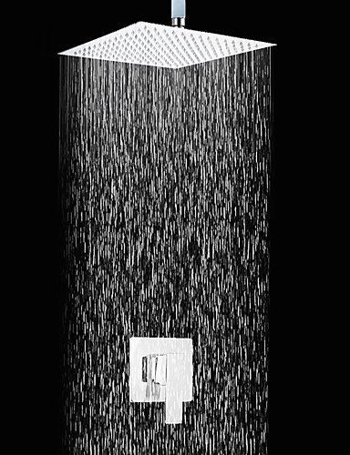 8 Zoll Moderne Platz Chrome Finish Slim Design Dusche Wasserhahn