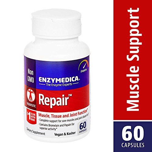 Enzymedica - Repair, for Muscle, Tissue & Joint Function with Anti-Inflammatory Support, 60 (Anti Inflammatory Enzyme)