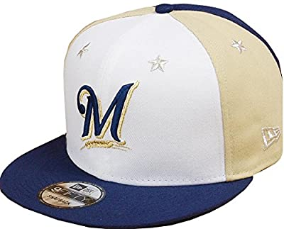 New Era Milwaukee Brewers 2018 MLB All-Star Game 9FIFTY Snapback Adjustable Hat – White/Navy from New Era