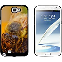 Graphics and More Bee Covered In Pollen On Flower - Snap On Hard Protective Case for Samsung Galaxy Note II 2 - Black