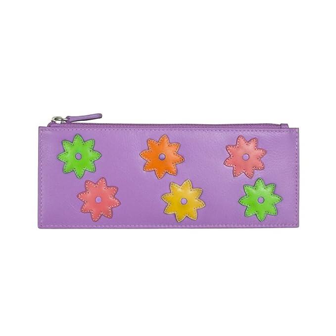 Amazon.com: ili 7802 Flower Power de piel Tarjeta de crédito ...