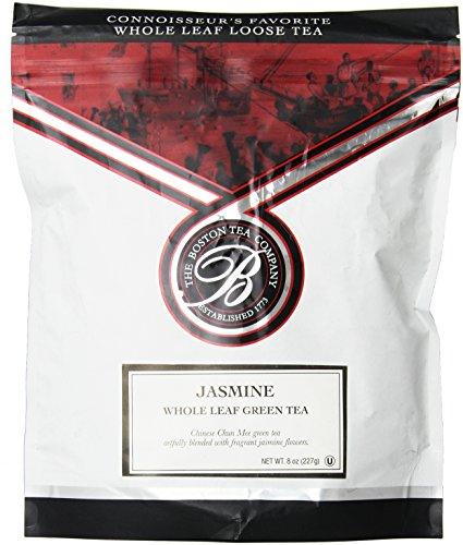 Boston Tea Finest année en vrac thé vert au jasmin, en vrac, refermable Pouch, 8 once Sac