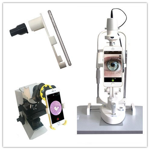 Microscope/Slit Lamp Smartphone Adapter with Built-In 23.2mm Eyepiece for iPhone 6/6s
