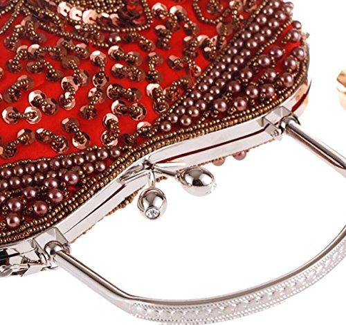 Con Cuentas Bolsos Bordados Glassbeads Paquete De Artesanía Cena Bolso Clásico Elegante Bolso Retro Estilo De La Mujer Bolso JujubeCoffee