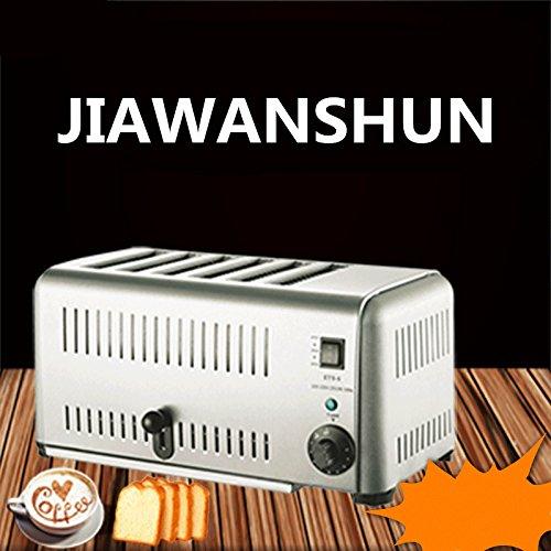 Electric Breakfast Kitchen Baker 6 Slice Slot Toaster Stainless Steel Commercial Bread Oven 220V