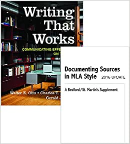 Book Writing That Works 12e & Documenting Sources in MLA Style: 2016 Update