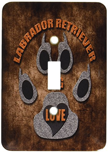 3dRose LLC lsp_22082_1 Labrador Retriever Dog Love Dog Breed In Gray and Brown Single Toggle Switch