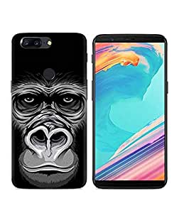 Oneplus 5T Case,fashion chimpanzee painted cover ultra thin soft silicone case anti fall shockproof TPU shell