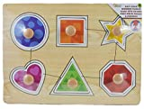 Educational Learning Wooden Puzzle ~ 6 Piece Easy Grab Puzzle (Shapes)