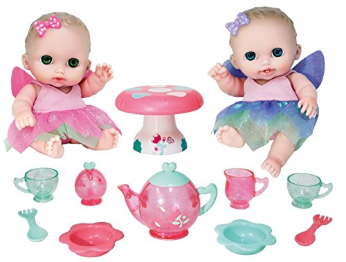 JC Toys Designed by Berenguer Baby Play Dolls, Pink, Purple, Green, 8.5""