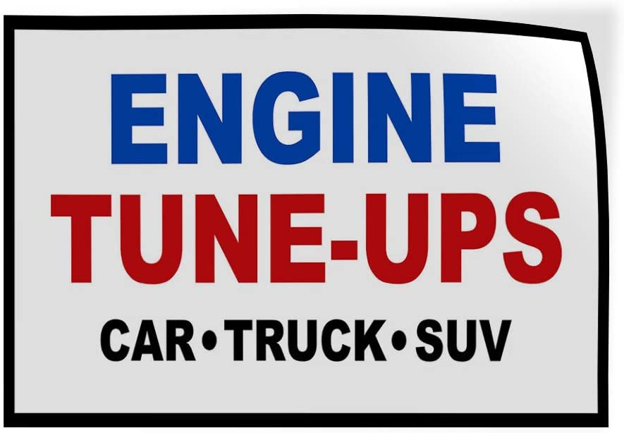 Set of 2 54inx36in Decal Sticker Multiple Sizes Engine Tune-Ups Car Truck SUV Auto Car Automotive Engine Tune Ups Outdoor Store Sign Blue