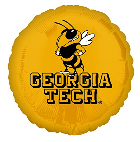 Anagram International Georgia Tech Foil Flat Balloon, 18