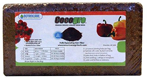 Botanicare Cocogro Brick Coir Fiber 650 gm 5 Pack Cocogro Coir Fiber