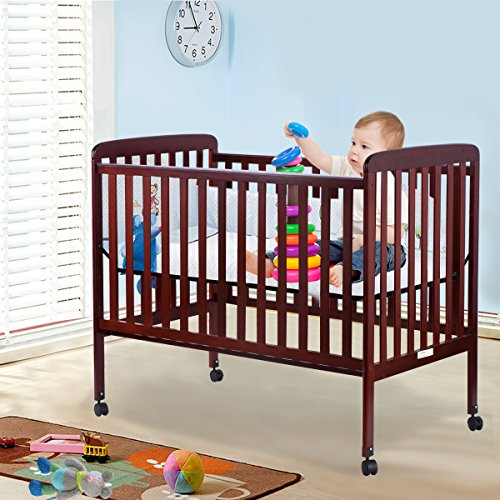 Crib Nursery Newborn Toys : Costzon baby convertible crib toddler bed infant nursery