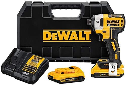 Dewalt 20V MAX XR 2.0Ah Li-ion Brushless 0.25 3-Speed Impact Driver Kit Renewed
