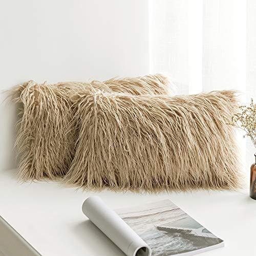 MIULEE Pack of 2 Decorative New Luxury Series Style Brown
