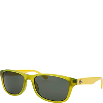 5b982a8279a Lacoste Eyewear Rectangle Kids Sunglasses (Green Translucent) at ...