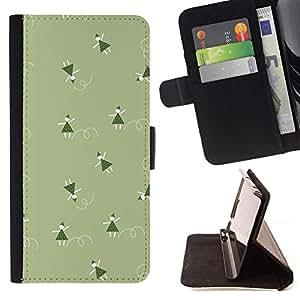 For Sony Xperia Style T3 Case , Verde de la Navidad vacaciones de invierno- la tarjeta de Crédito Slots PU Funda de cuero Monedero caso cubierta de piel