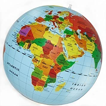 Inflatable Globe World Map. New Kids 50cm Mega Inflatable Political World Globe Maps Educational Aid Toy