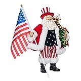 Kurt Adler C7486 Fabriche Patriotic Americana Santa